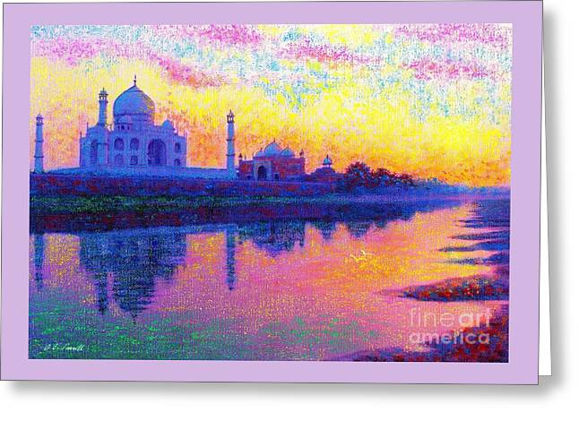 Taj Mahal, Reflections Of India Greeting Card by Jane Small