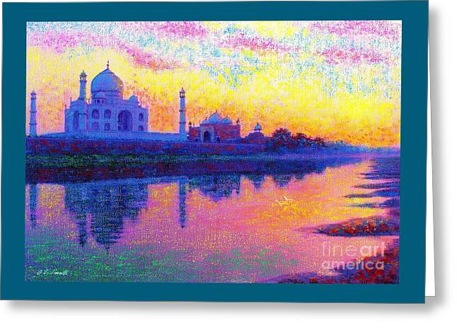 Taj Mahal, Reflections Of India Greeting Card