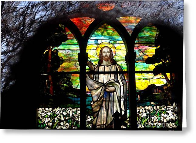 Reflections Of Jesus Greeting Card by Ed Weidman
