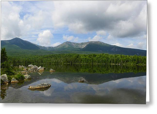Reflections Of Katahdin At Sandy Stream Pond Greeting Card