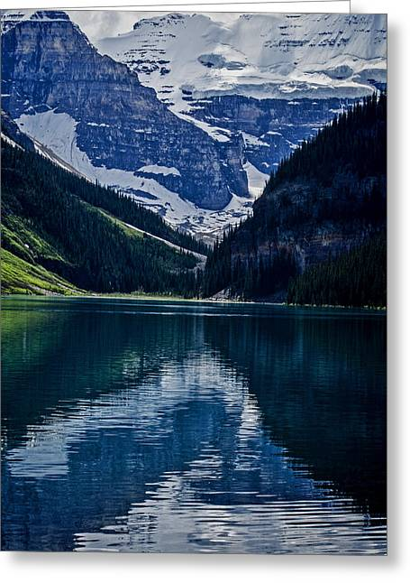 Reflections Of Lake Louise - Banff National Park Greeting Card