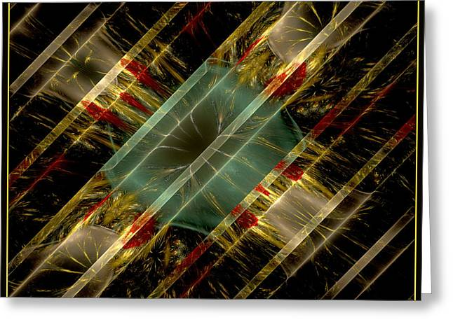 Greeting Card featuring the digital art Reflections Of Life by Melissa Messick