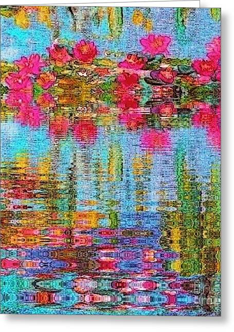 Greeting Card featuring the painting Reflections Of Monet by Holly Martinson