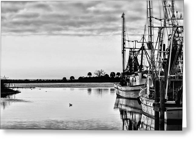 Reflections Of Pensacola Bay Greeting Card by JC Findley