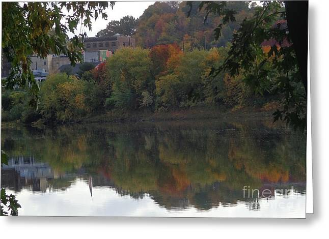 Reflections Of Pittston Greeting Card