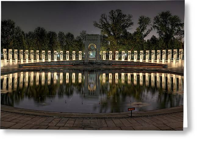 Reflections Of The Atlantic Theater Greeting Card by Metro DC Photography