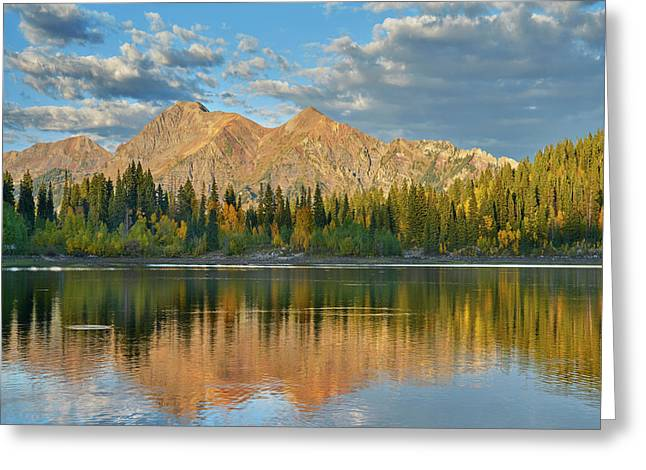 Reflections Of The Ruby Range In Lost Greeting Card