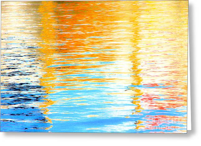 Reflections Of The Setting Sun Greeting Card