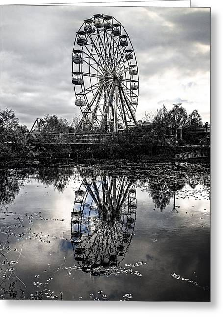 Reflections Of The Wheel Greeting Card