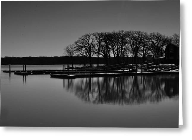 Reflections Of Water Greeting Card by Miguel Winterpacht