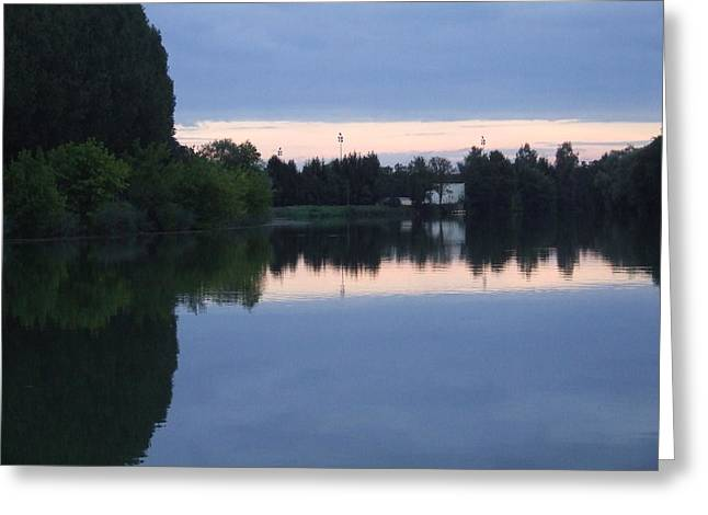 Reflections On La Saone Greeting Card