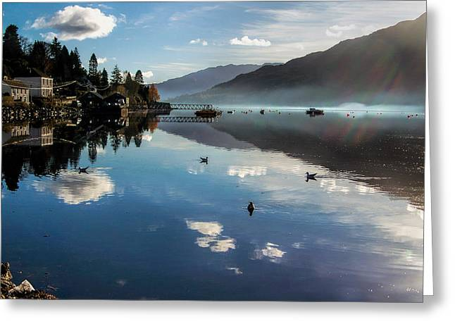 Reflections On Loch Goil Scotland Greeting Card