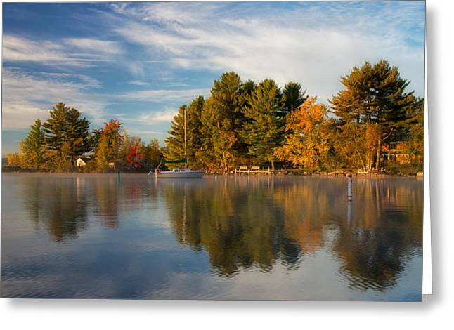 Reflections On Long Lake Greeting Card