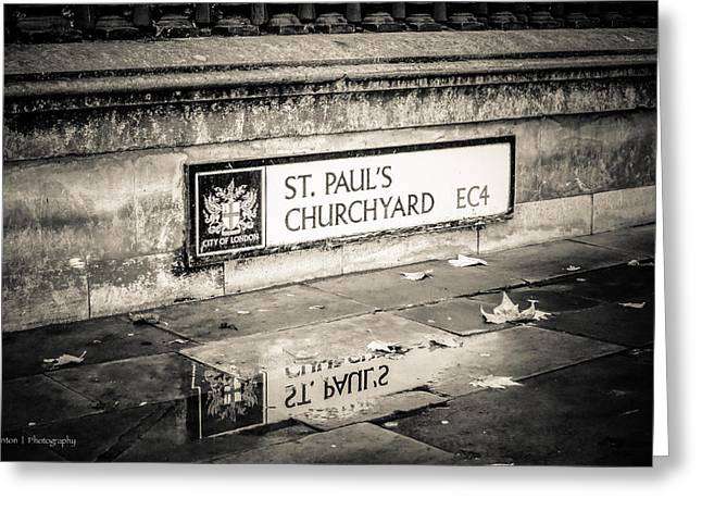 Reflections On St. Paul's Churchyard Greeting Card