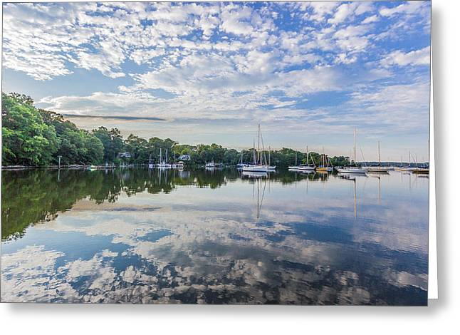 Reflections On The Magothy River Greeting Card