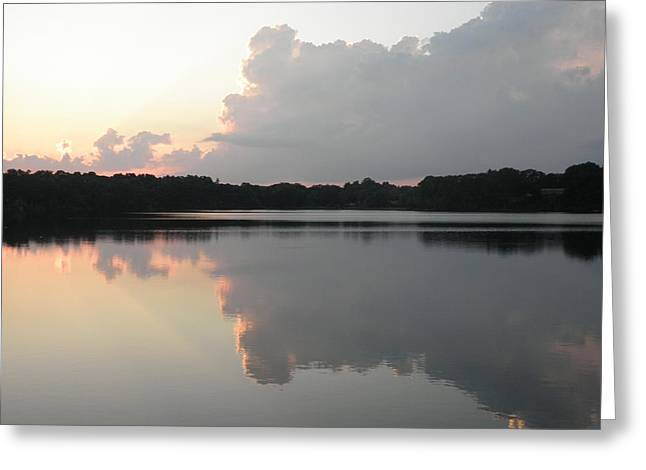 Reflections On The Pond Greeting Card by Kate Gallagher