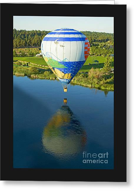 Reflections Over The Dechutes Greeting Card by Nick  Boren