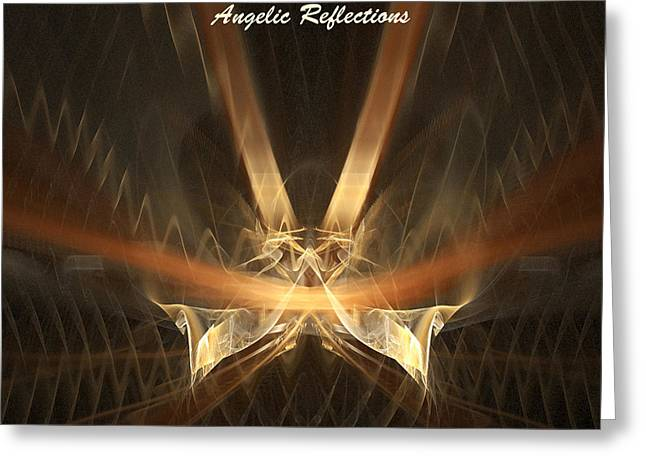 Greeting Card featuring the digital art Reflections by R Thomas Brass