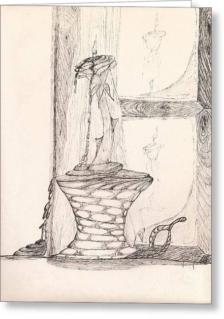 Reflections... Greeting Card by Robert Meszaros