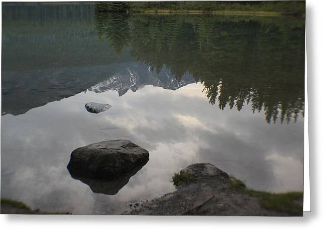 Reflections Two Jacks Lake Greeting Card