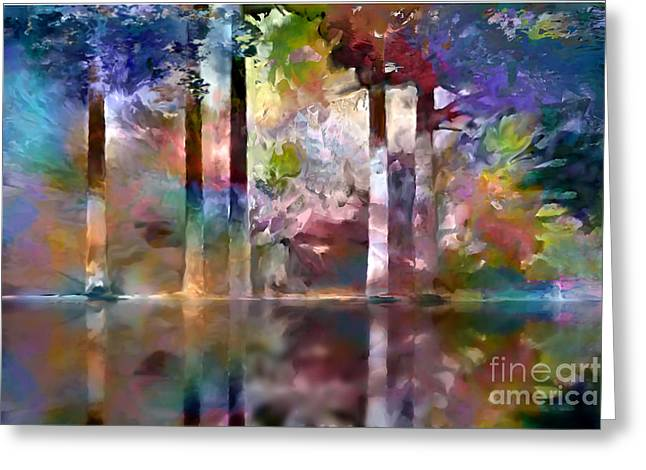 Reflections Greeting Card by Ursula Freer