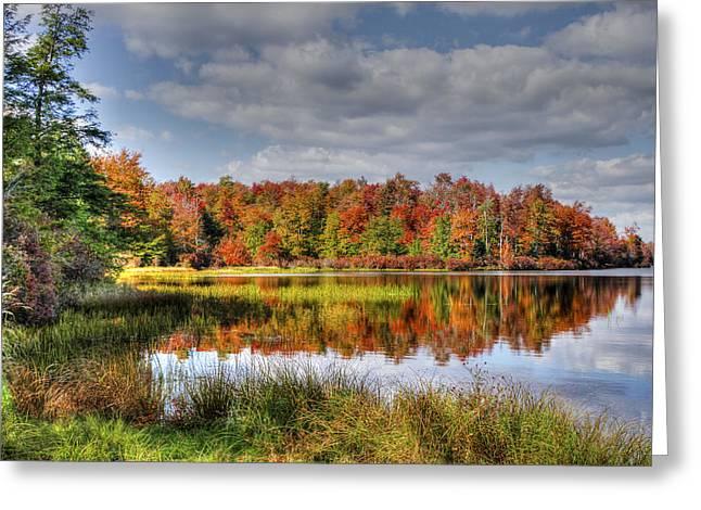 Reflective Autumn Greeting Card