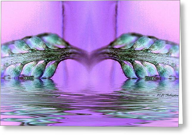 Reflective Consciousness Greeting Card by WB Johnston