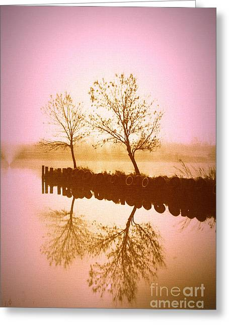 Reflective Glow Greeting Card by Julie Lueders