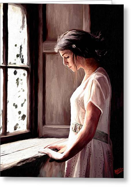 Reflective Moment Greeting Card by James Shepherd