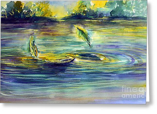 Reflective Ripples Greeting Card