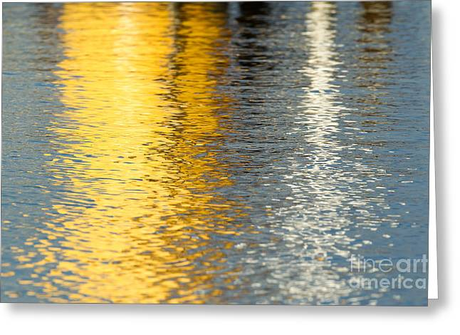 Reflective Water Colors Greeting Card by Kelly Morvant