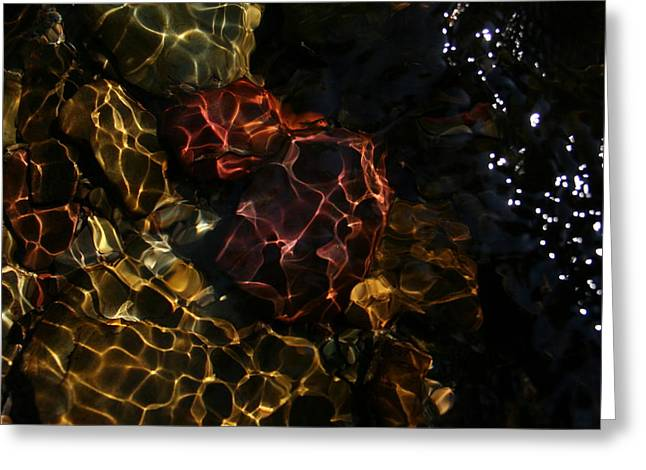 Refracted Sunlight Greeting Card by Kevin Sebold