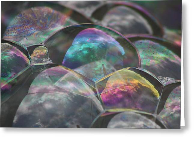 Refraction Greeting Card by Cathie Douglas