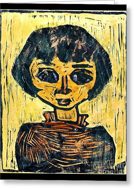 Refugee Child 1930 Greeting Card by Padre Art