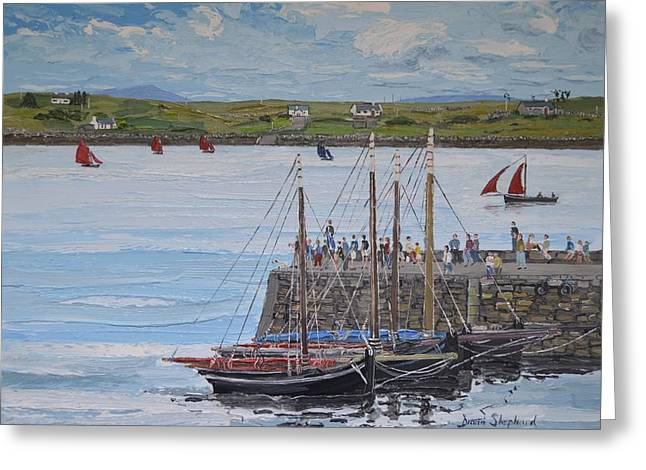 Regatta At Roundstone Harbour Connemara Greeting Card