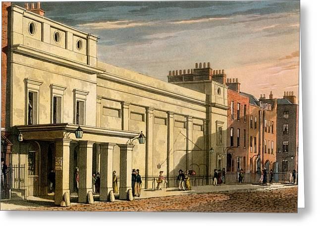 Regency Theatre, London, 1826 Greeting Card