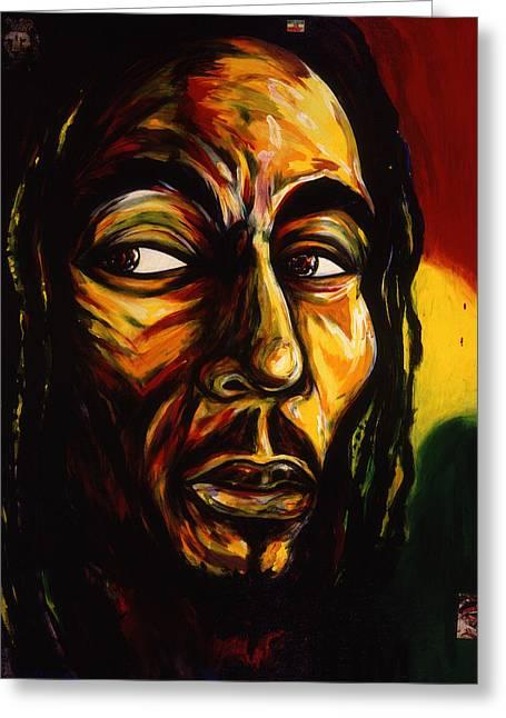 Bob Marley Reggae King Greeting Card by Cardell Walker