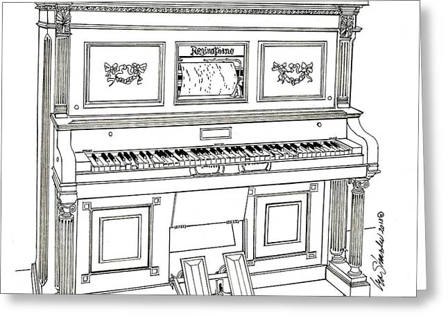 Regina Player Piano Greeting Card