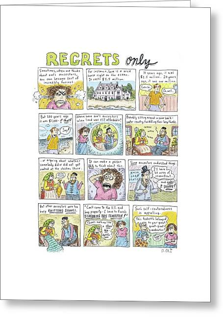 Regrets Only Greeting Card by Roz Chast