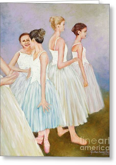 Greeting Card featuring the painting Rehearsal by Cynthia Parsons