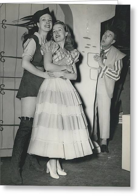 Rehearsal For ``dick Whittington� At The Palladium Greeting Card by Retro Images Archive