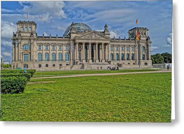 Reichstag Berlin Hdr Greeting Card by Alexander Drum