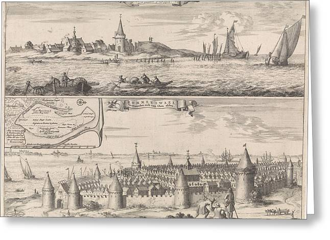 Reimerswaal In Past And Present Times, 1634 Greeting Card