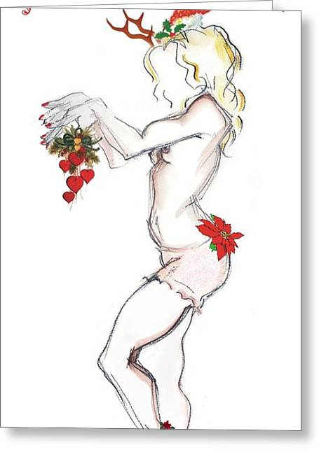 Reindeer Cupid - Joy To The World Greeting Card