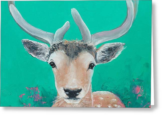 Reindeer  Greeting Card by Jan Matson
