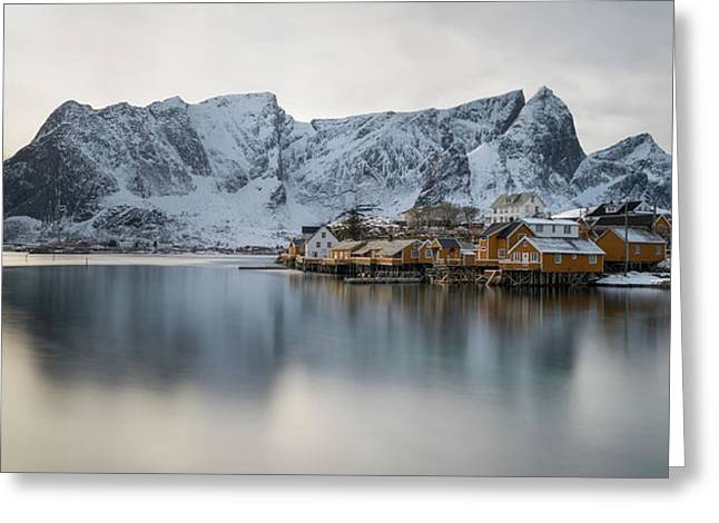 Reine And Sakrisoy Villages Greeting Card