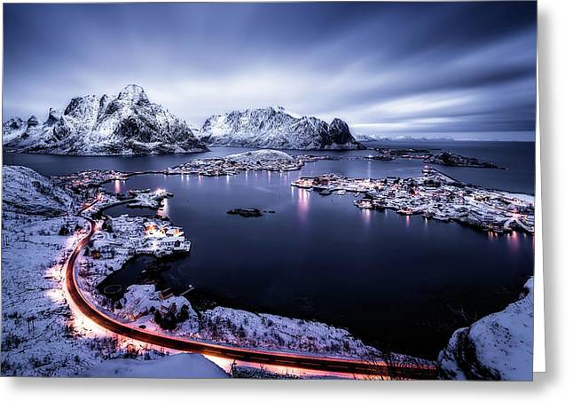 Reine Blue Hour Greeting Card