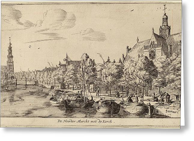 Reinier Zeeman Dutch, 1624 - 1664, Noordenmarkt Greeting Card by Quint Lox