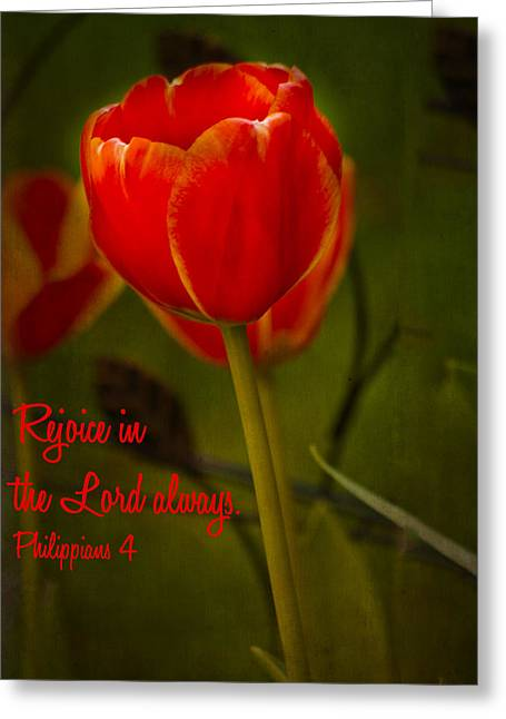 Rejoice In The Lord Greeting Card by Bill Barber