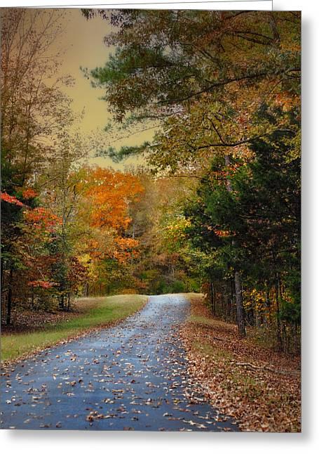 Rekindled Spirit - Autumn Landscape Scene Greeting Card by Jai Johnson